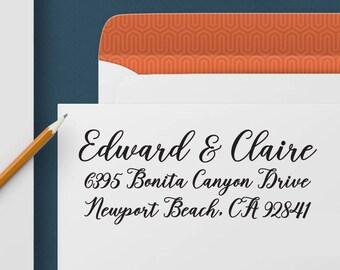 Return Address Stamp 339 - Self Inking Stamp, Custom Address Stamp, Custom Stamp, Personalized Address Stamp, Wedding and Housewarming Gift