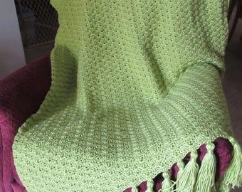 Chartreuse Crochet Afghan