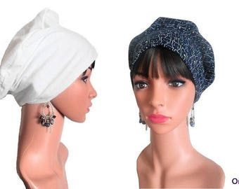 """Beret chemo REVERSIBLE """"cat"""" po """"& its removable fabric flower"""