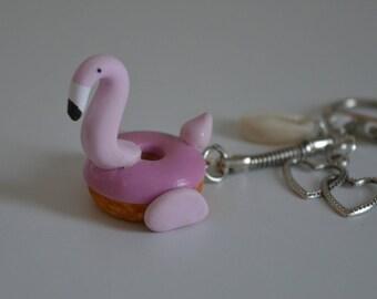 Keychain - Flamingo Pink Donut