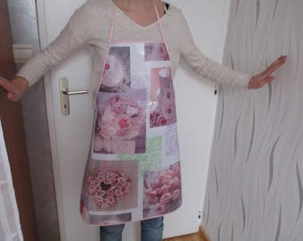 women printed woman oilcloth apron gift pink