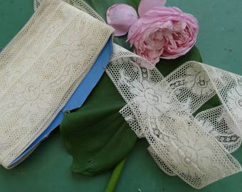 8 metres 50 old lace, lace thin old france.  Long lace, antique lace, vintage bridal dress lace