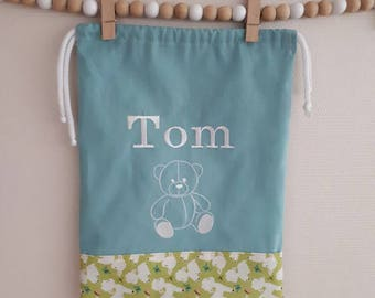 Embroidered name blanket bag