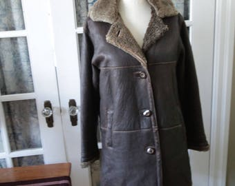 1970's Custom Made Shearling Sheepskin Coat