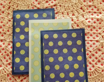 Set of 7 blank note cards