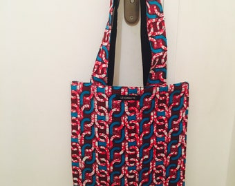 Bag tote bag in wax, African fabric bag