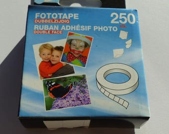 box of 250 double-sided adhesive photo and scrapbooking