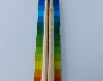 set of 2 crayons in the shape of drumstick a gift for all drummers!