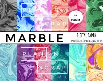 digital paper, digital papers, marble, marble pattern, textured, scrapbook, scrapbooking, seamless pattern, texture, digital paper pack, pla