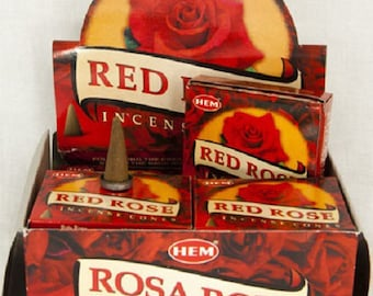 Box of 10 incense cones to scent your House Red Rose