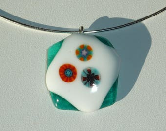 The Gypsy fused glass necklace