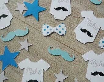 Mr. mustache theme table confetti