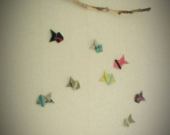 Mobile origami fish