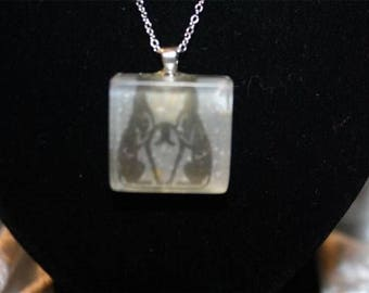greyhounds resin necklace