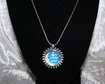 Moon pendant chain necklace
