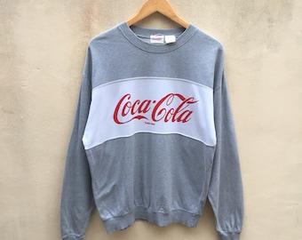 Rare! Vintage Coca-Cola Sweatshirt Big Spell Jumper Pullover 90s