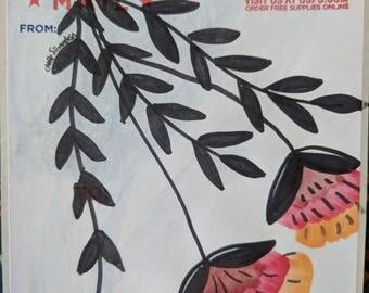 Hand drawn vintage style flower sticker (1of1)