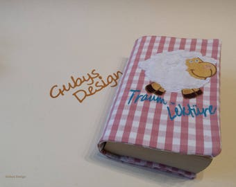 Book cover made of cotton with embroidery, dream reading