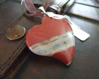 Red Jasper gemstone mineral pendant