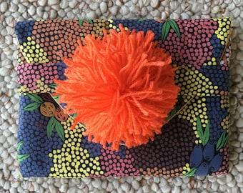 Earth and Berries Pompom Clutch/Handbag