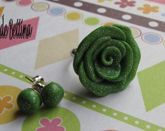 Flowers earrings and ring set