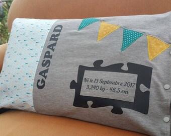 Cushion cover pillow + birthstone