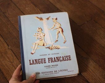 Old french lesson book