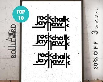 kansas jayhawks print, ku wall art, rockchalk jayhawk, ku jayhawks, ku gifts, ku jayhawk art, ku basketball, rcjh, university of kansas, ku