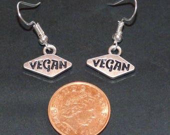 Silver plated Vegan Earrings