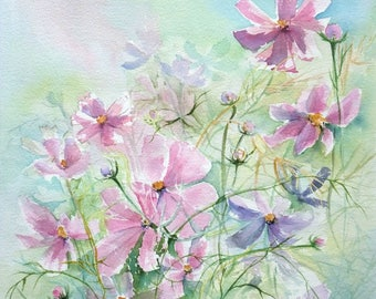 Cosmos - Figurative watercolor