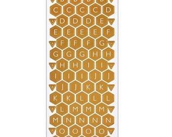 Alphabet stickers (honeycomb) Forever Friends Opulent - 176 pcs.