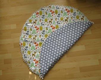 Baby Playmat, Round Playmat, Animal print, Nursery Decor, Play Rug, Tummy time