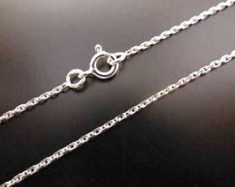 Silver mesh chain 38cm