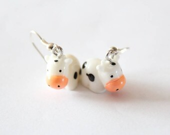 COW resin earrings