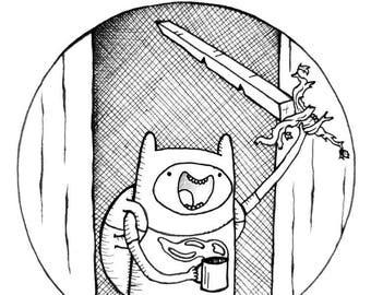 Adventure Time Fan Art Finn the Human Print