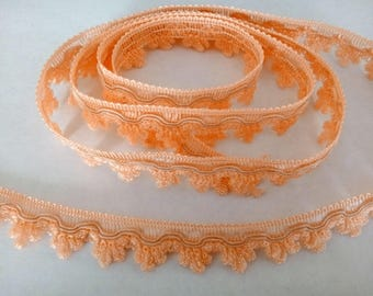 Ribbon lace salmon orange 1.8 cm / 1 m