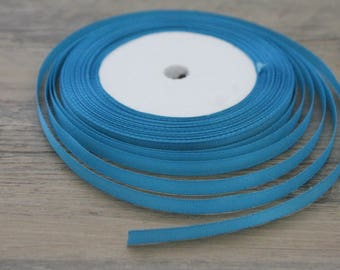 20 m of 6mm turquoise colored satin ribbon