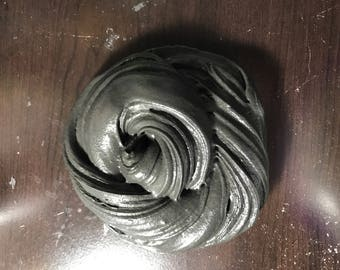 Black butter clay slime