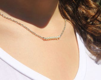 Floating Glass Pearl Chain Necklace