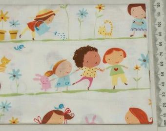"100% cotton. Patchwork embroidery. ""Hopscotch"". 03"