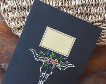 Embroidered notebook