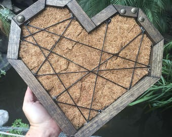 DIY succulent hanging or centerpiece heart shaped planter box only
