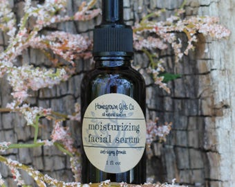 MOISTURIZING FACIAL SERUM, jojoba oil, argan oil & rosehip seed oil, natural face moisturizer, face serum