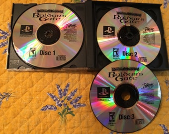 Baulder's Gate NTSC-U PS1 *Repro* 3 Disc Set