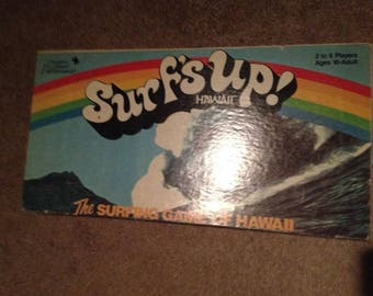 Surf's Up the Surfing Board Game of Hawaii 1980 Island Entertain. CIB Complete