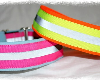"Dog collar ""Neon lights"" Jacquard ribbon in unique colourful sport style for Pet fashion accessories"