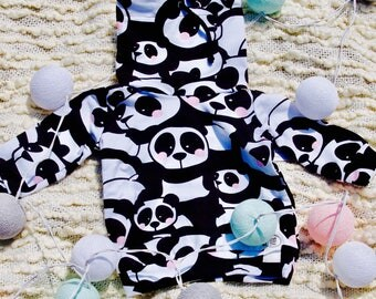 Panda Baby/Kids Sweatshirt Handmade back to school fall collection girls clothes baby clothes