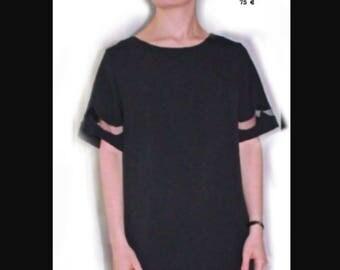 Polyester crepe dress