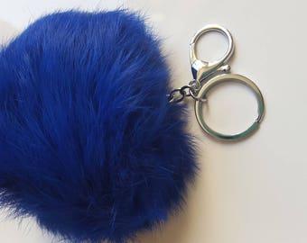 1 x big Pompom fur dark blue color