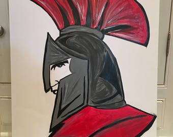 Saraland spartans hand painted sign